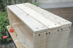 Wooden planter: the process of making a contrast leg planter with upcycled wood.
