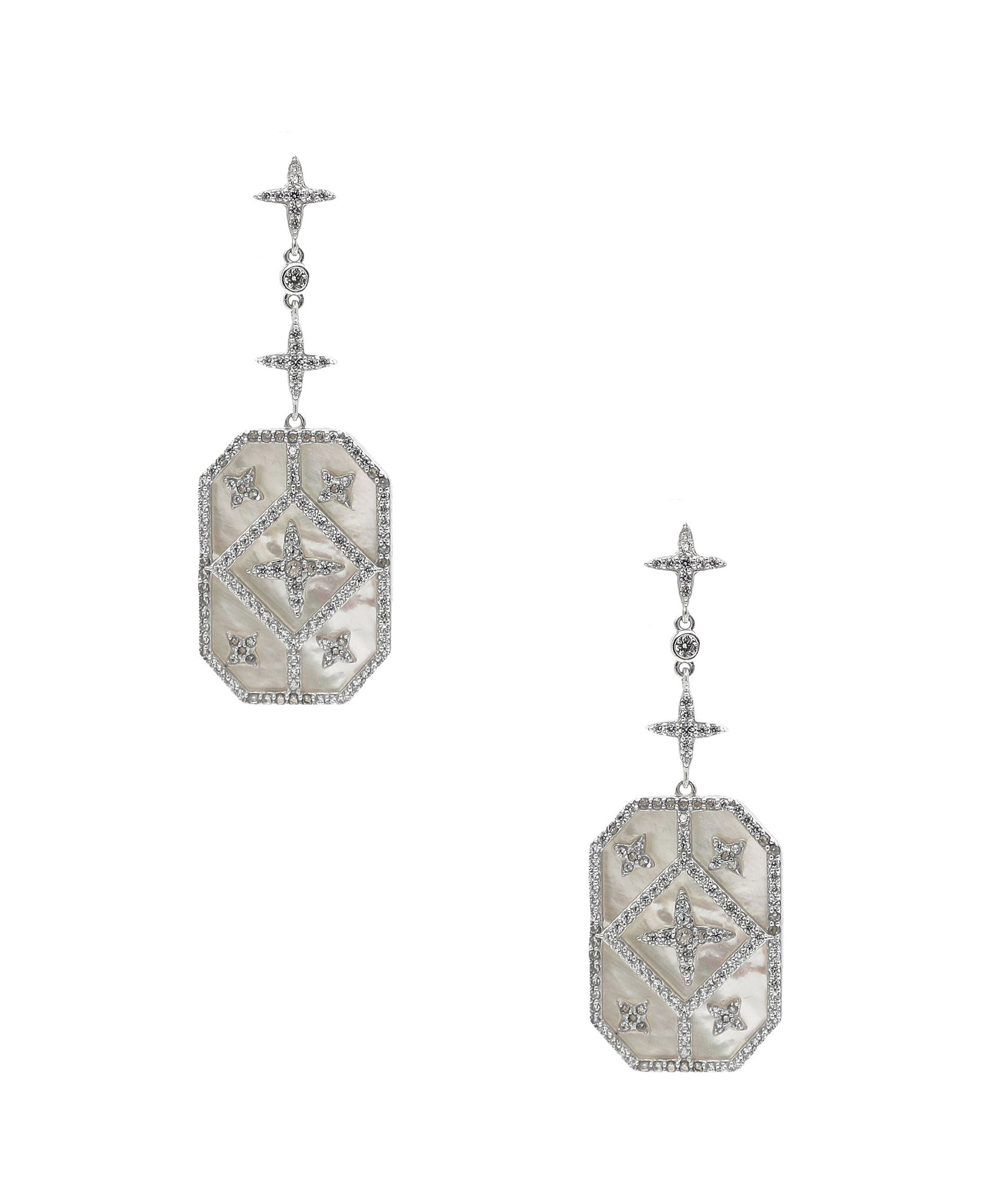 Mother of Pearl & CZ Earrings - Fox's