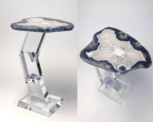 Brick-A-Brack Agate side table