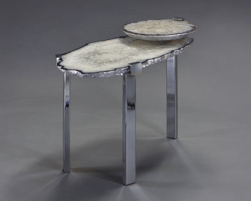 2 Tier Side Table with Mineral Top