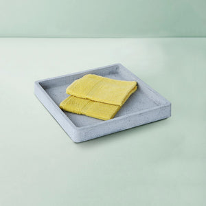 concrete handmade large square tray grey