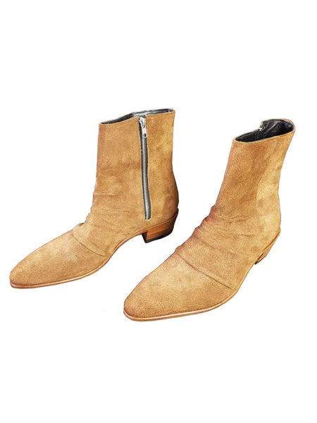 AJT Official Tan Suede Rocker Boots - AJT Jewellery