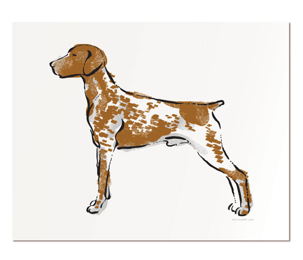 German Shorthaired Pointer 11x14""