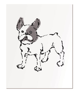 "French bulldog - 11x14"" art print"