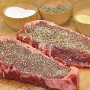 4 Grass-fed Beef - New York Strip Steaks - approx. 3 lbs.