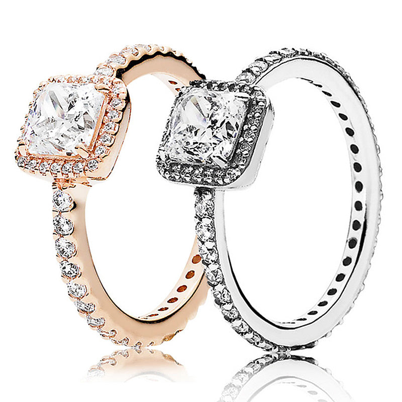 Timeless Elegance Ring With Crystal