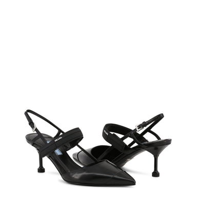 Prada Pointed Toe Slingback Shoes in Black