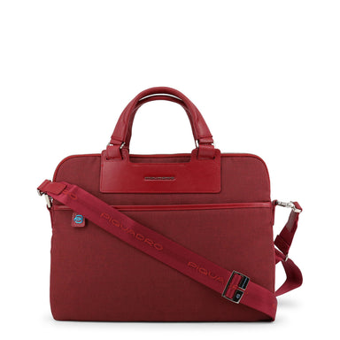Piquadro Zip Messenger Bag in Red