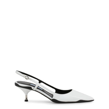 Prada Leather Slingback Court Shoes in White