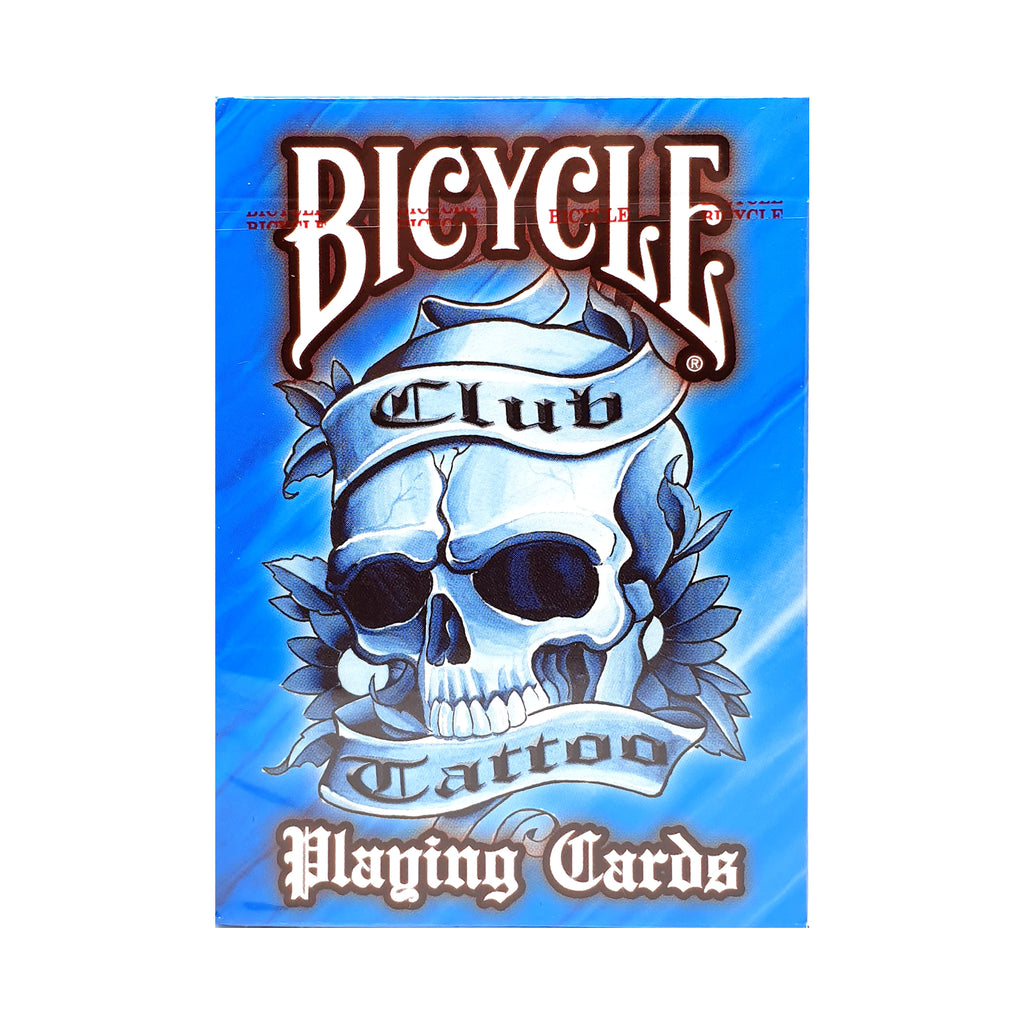 Bicycle Club Tattoo Blue Playing Cards