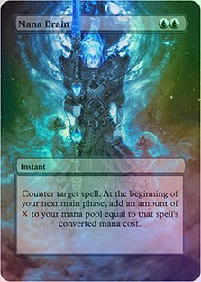 Mana Drain - Casual Play Only - Customs Altered Art Foil