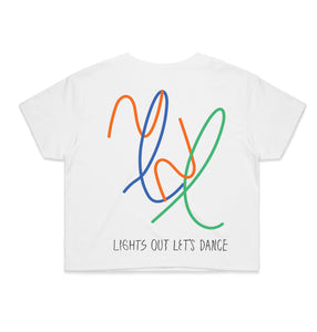 Lights Out Cropped White T