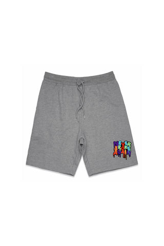 Never Broke Again Drip Patch Short - Grey