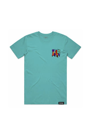 Never Broke Again Drip Patch T-Shirt - Teal