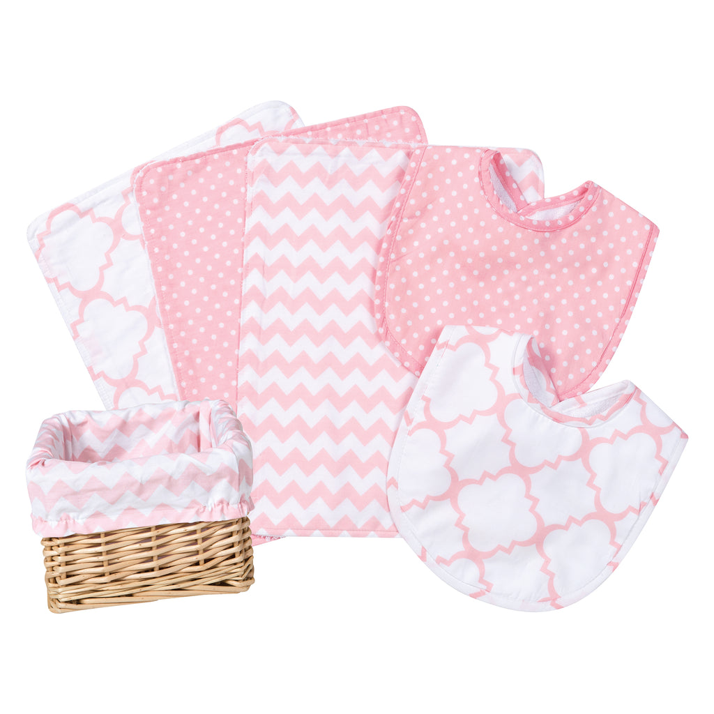 Pink Sky 7 Piece Feeding Basket Gift Set
