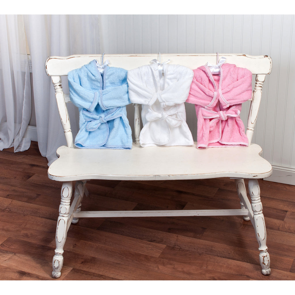 Cotton Terry Infant Robe-White