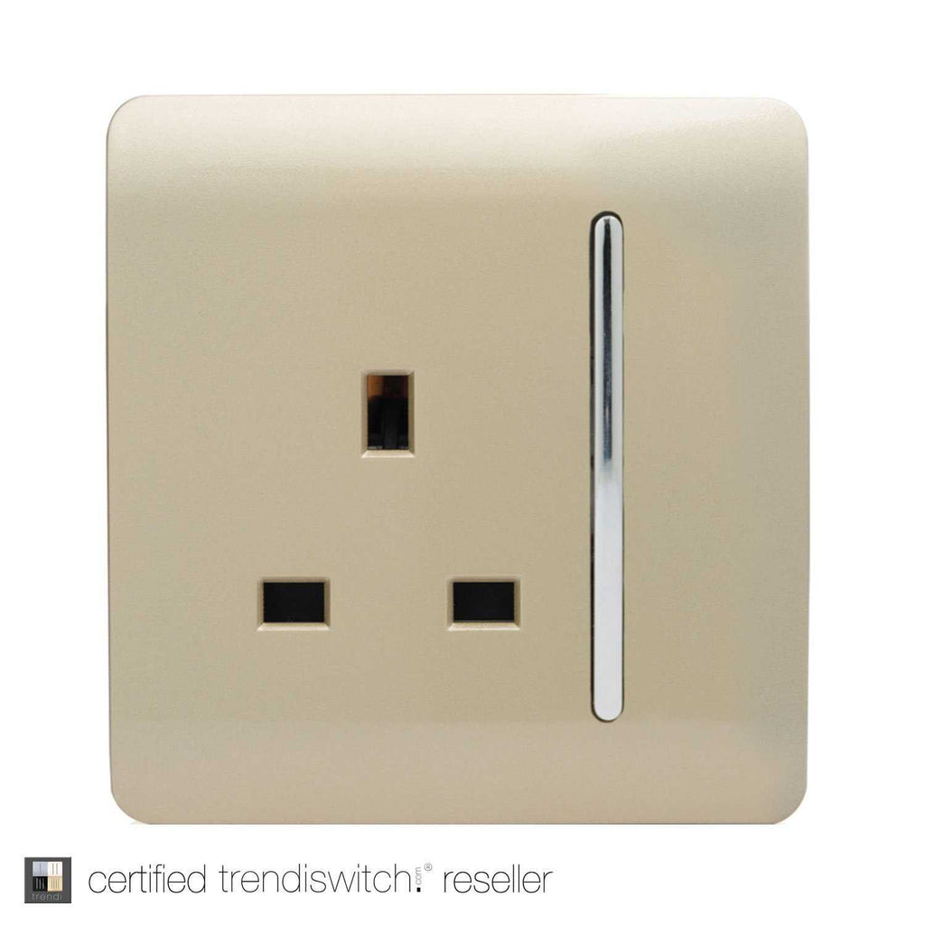 1 Gang 13amp Switched Single Socket Gold      7.95  Trendiswitch