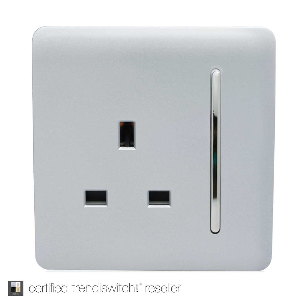 1 Gang 13amp Switched Single Socket Silver      7.95  iLite Lighting