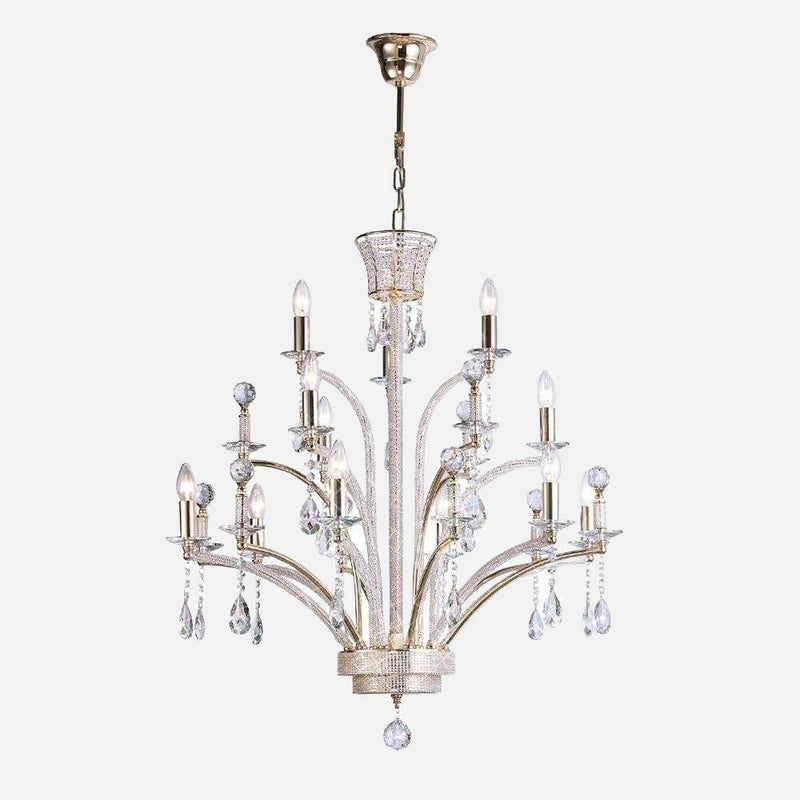 Ogni 12 Light Crystal Chandelier - Gold      2519.90  Diyas Lighting