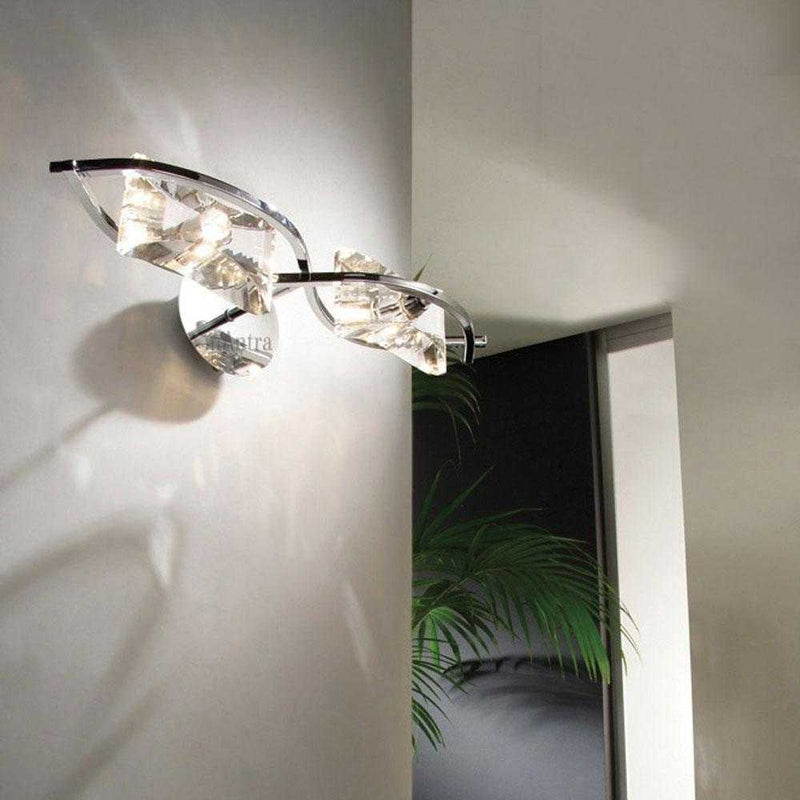 Ogni Double Wall Light - Chrome      154.90  iLite Lighting