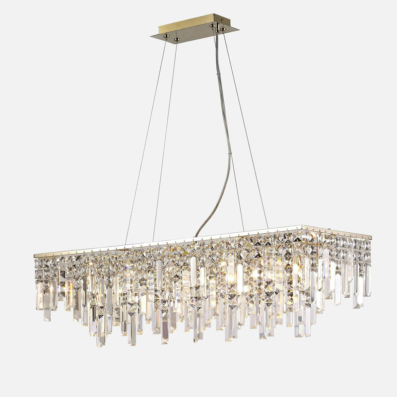 Volete Crystal Rectangular Suspension - Rose Gold      669.90  Diyas Lighting
