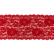 "Load image into Gallery viewer, 6"" Fire Engine Red Stretch Lace # 218"