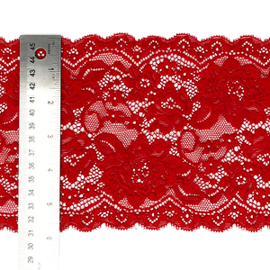 "6"" Fire Engine Red Stretch Lace # 218"