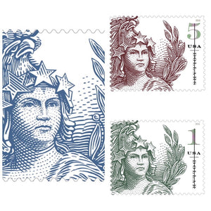 TangStamps US Stamp 2018 New Issue Statue Of Freedom Complete With Plate Number