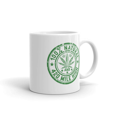 100% Natural Weed Mug - 420 Mile High