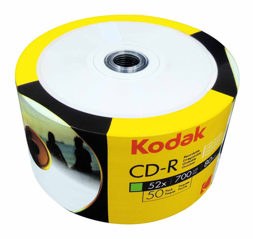 KODAK CD-R 52x 700MB 80 Min 50 Pack Printable - CD-KD-50/FFP