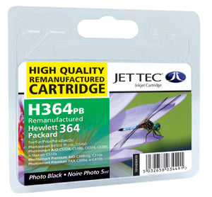 JETTEC HP 364 Photo Black Remanufactured Ink Cartridge - C-364PB