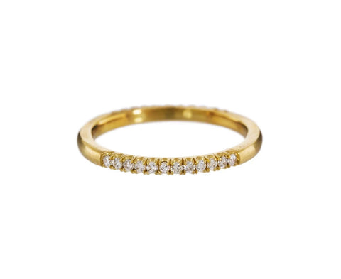 Gold Half Diamond Pavé Ring - TWISTonline