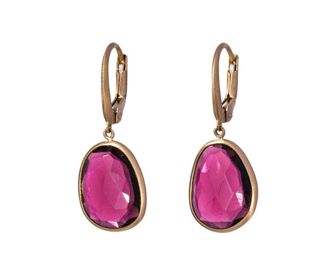 Red Tourmaline Canna Cava Momo Earrings - TWISTonline