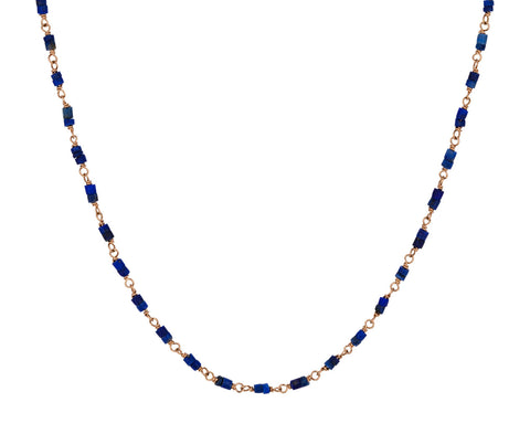 Lapis Rosary Gancino Necklace - TWISTonline