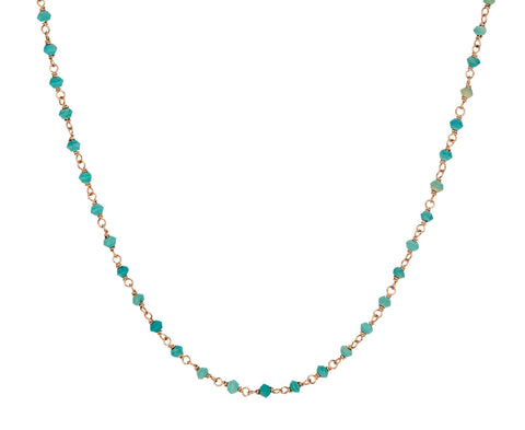 Turquoise Rosary Gancino Necklace - TWISTonline