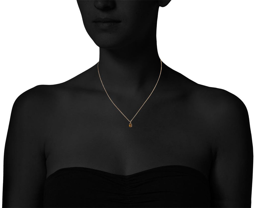 Orange Sapphire Asola Leona Necklace - TWISTonline