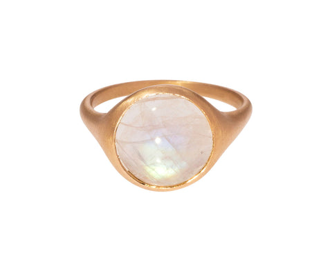 Round White Labradorite Ring - TWISTonline