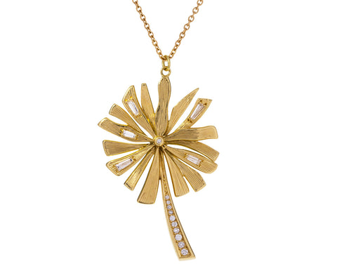 Diamond Dandelion Wish Necklace