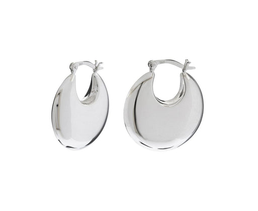 Classic Silver Cowbell Earrings - TWISTonline
