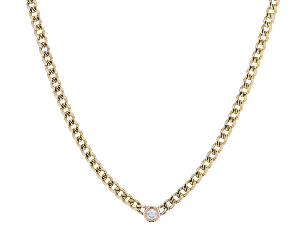 Floating Diamond Curb Chain Necklace - TWISTonline