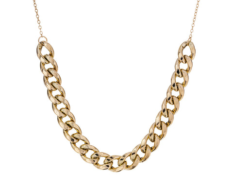 Wide Curb Chain Necklace - TWISTonline