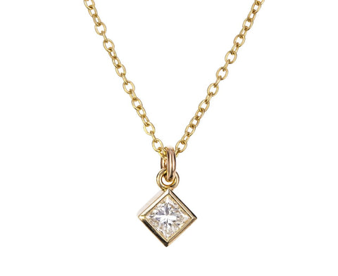 Princess Cut Diamond Pendant Necklace - TWISTonline