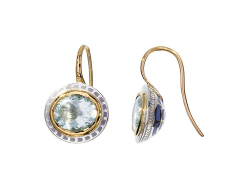 Aquamarine Lacquer Earrings - TWISTonline