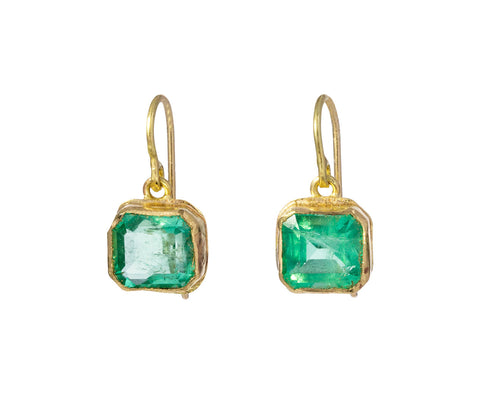 Bright Emerald Drop Earrings