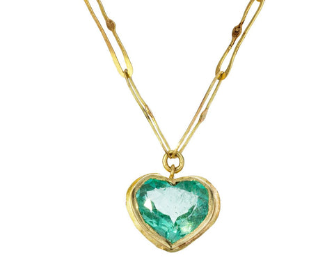 Lovely Heart Emerald Echo Necklace - TWISTonline
