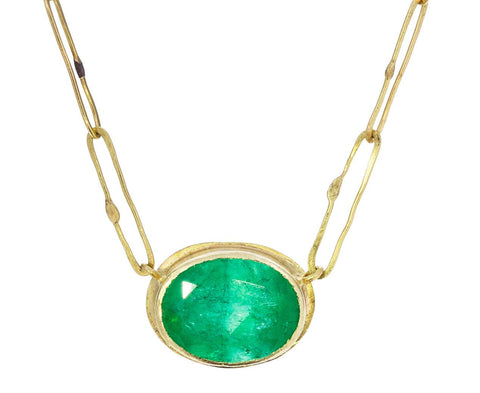 Oval Emerald Echo Necklace - TWISTonline