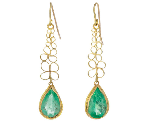 Emerald Flowery Stem Earrings - TWISTonline