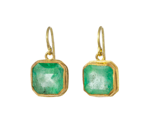 Lovely Square Emerald Earrings - TWISTonline