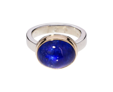 Smooth Blue Sapphire Ring