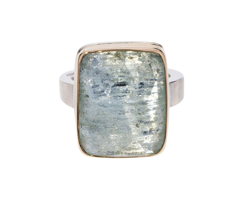 Rose Cut Aquamarine Ring
